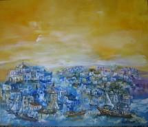 Picturi cu peisaje Peisaj:grecia salonic