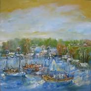 Picturi cu peisaje Peisaj din delta primavara la sulina