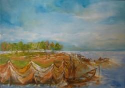 Picturi cu peisaje Plase pescaresti