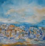 Picturi cu peisaje Port in grecia-uleipinza