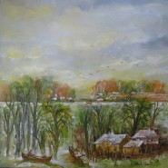 Picturi cu peisaje Primavara in delta la sulina