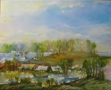 Picturi cu peisaje Primavara la sulina