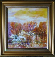 Picturi cu peisaje Sat de pescari