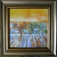 Picturi cu peisaje Sat in baragan