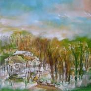 Picturi cu peisaje Sat in delta-uleipinza