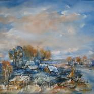 Picturi cu peisaje Sat in delta