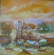 Picturi cu peisaje Toamna in delta-sulina