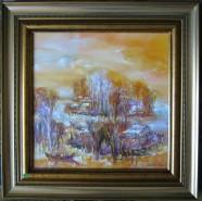 Picturi cu peisaje Toamna tirzie in delta