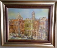 Picturi cu peisaje Venezia-canal grande-uleipinza