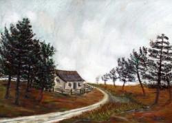 Picturi cu peisaje Salasul.de.langa.drum