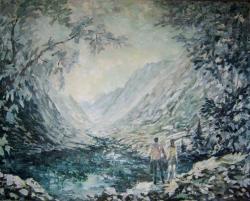 Picturi cu peisaje Muntii nostri