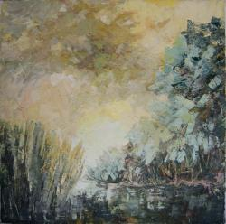 Picturi cu peisaje vegetatie de balta