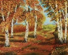 Picturi cu peisaje Printre mesteceni