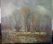 Picturi cu peisaje Zavoi iarna