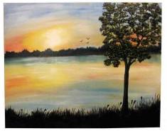 Picturi cu peisaje Apus 2
