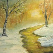 Picturi cu peisaje Caldura iernii