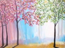 Picturi cu peisaje Culori in padure
