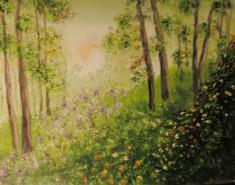 Picturi cu peisaje Dealul cu flori