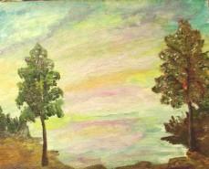 Picturi cu peisaje Dimineata de toamna