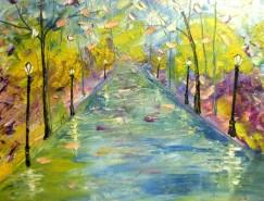 Picturi cu peisaje Dupa ploaie