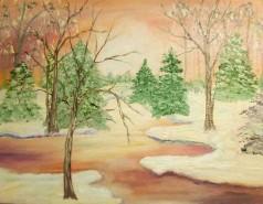Picturi cu peisaje Iarna in poveste