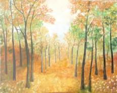 Picturi cu peisaje In mijlocul padurii