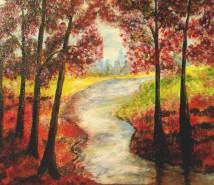 Picturi cu peisaje La umbra copacilor