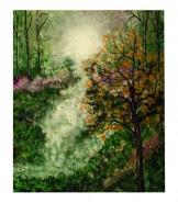 Picturi cu peisaje Lumina pe deal 2