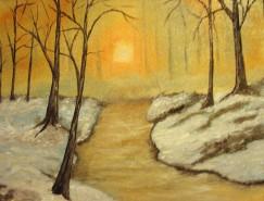 Picturi cu peisaje O zi de iarna