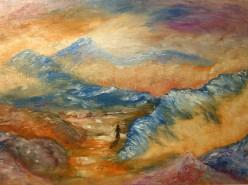 Picturi cu peisaje Pe carari misterioase