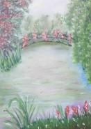 Picturi cu peisaje Podul cu flori