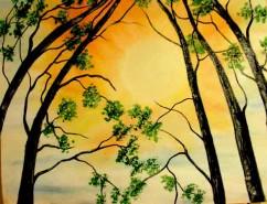 Picturi cu peisaje Spre cerul auriu