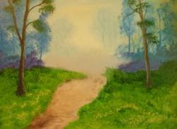Picturi cu peisaje Tinuturi albastre