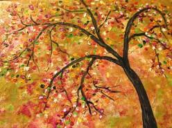Picturi cu peisaje Toamna  multicolora