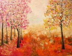 Picturi cu peisaje Toamna in culori