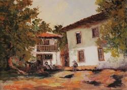 Picturi cu peisaje Casa taraneasca