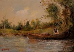 Picturi cu peisaje O zi la pescuit