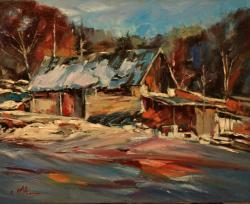 Picturi cu peisaje PEISAJ DE IARNA 02