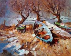 Picturi cu peisaje Peisaj din delta