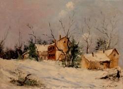 Picturi cu peisaje Peisaj iarna 2