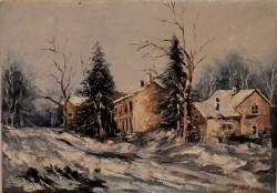 Picturi cu peisaje Peisaj iarna ii