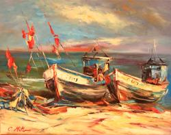 Picturi cu peisaje PEISAJ MARIN 002