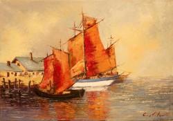 Picturi cu peisaje Peisaj marin 02
