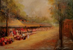 Picturi cu peisaje Piata de flori