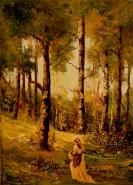 Picturi cu peisaje Prin padure...