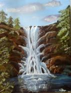Picturi cu peisaje Prima mea cascada