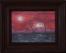 Picturi cu peisaje Apus rosu