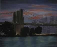 Picturi cu peisaje Brooklyn bridge ny