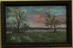 Picturi cu peisaje Peisaj seara de august