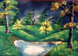 Picturi cu peisaje Peisaj de toamna